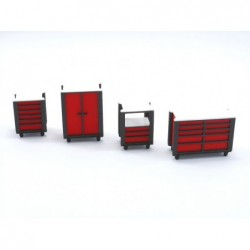 Red Tools Trolley - TA001R
